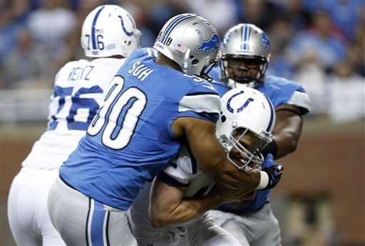 Andrew Luck-led Colts rally to beat Lions 35-33