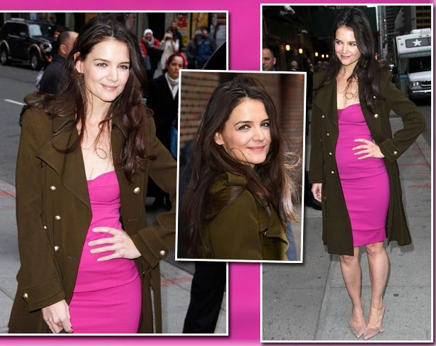 Katie Holmes in NY: So pretty in Pink! (Bilder: Getty Images)