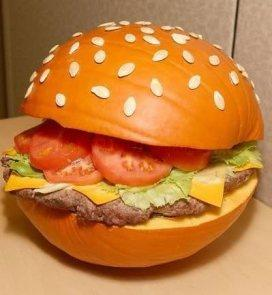 Hamburger Halloween Pumpkin