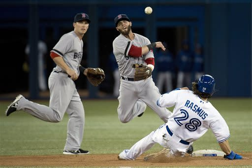 Dempster wins 2nd straight, Red Sox beat Jays