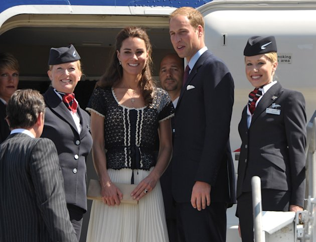 Prince William and Kate, the Duke and Duchess of Cambridge, prepare for their departure at Los Angeles International Airport on Sunday, July 10, 2011, in Los Angeles. Following a nonstop weekend that
