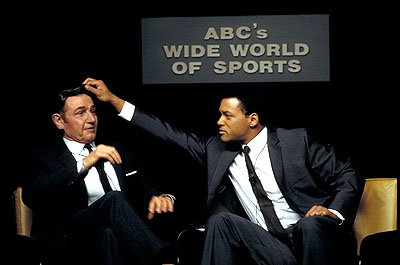 Jon Voight as Howard Cosell and Will Smith as Muhammad Ali in Columbia's Ali