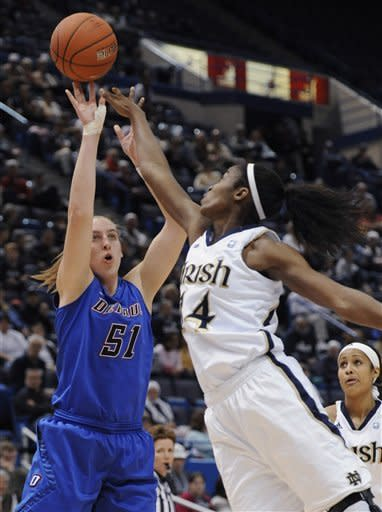 Notre Dame women beat DePaul 69-54 in Big East
