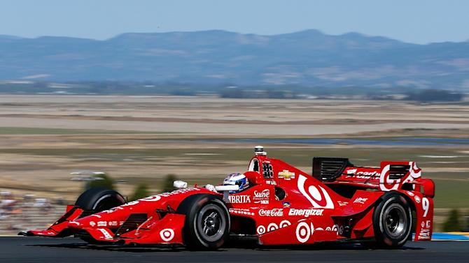 Scott Dixon of New Zealand drives during the Verizon IndyCar Series GoPro Grand Prix of Sonoma on August 30, 2015, in California