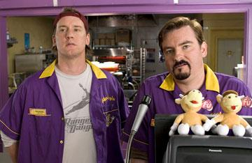 Jeff Anderson and Brian Christopher O'Halloran in The Weinstein Company's Clerks II