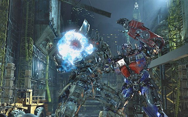 "In this undated image released by Universal Studios Hollywood, characters Megatron, left, and Optimus Prime are displayed during the ""Transformers the Ride: 3D,"" attraction at Universal Studios Hollyw"