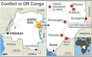 Maps of DR Congo, North Kivu, locating positions abandoned …