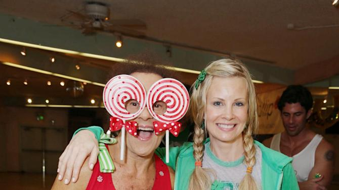 Richard Simmons, Molly Brigid Allison and Monica Potter at St. Patty's Day Slimdown benefiting the Lollipop Theatre Network held at Slimmons on Sunday, Mar., 17, 2013 in Beverly Hills, CA. (Photo by Eric Charbonneau/Invision for Lollipop Theatre Network/AP Images)