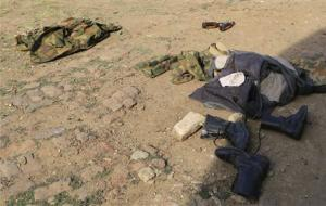 South Sudan army military boots and uniforms abandoned…