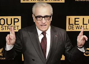 "Director Scorsese reacts during a photocall for his film ""The Wolf of Wall Street"" in Paris"