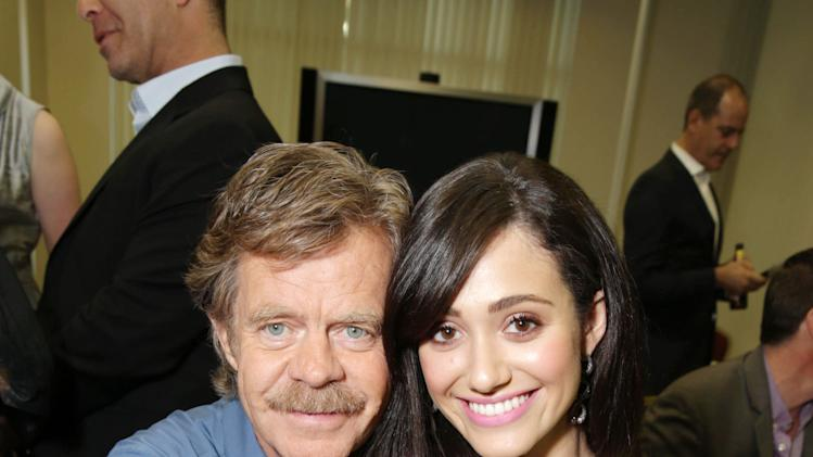 William H. Macy and Emmy Rossum at An Evening with Shameless, on Tuesday, June, 4, 2013 in Los Angeles. (Photo by Eric Charbonneau/Invision for Showtime/AP Images)