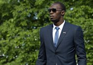 Olympic 100m and 200m champion Usain Bolt, pictured in June 2012, and Jamaica's star-studded track and field team have been training under heavy security at the University of Birmingham since their arrival here just about a week ago