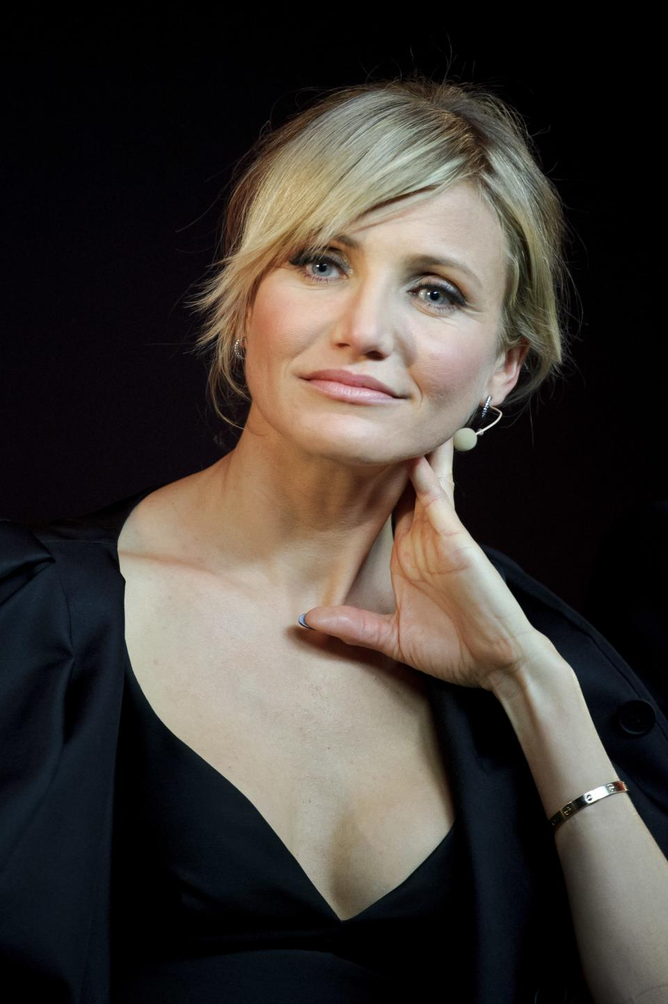Cameron Diaz seen at Meet the Filmmakers: Gambit at The Apple Store on Wednesday, Nov. 7, 2012, in London. (Photo by Jonathan Short/Invision/AP)