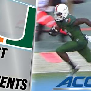 Miami WR Phillip Dorsett Goes Over 200 Yards on Long TD | ACC Must See Moment