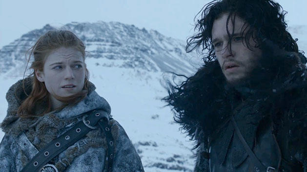 """""""Game of Thrones"""" Rose Leslie and Kit Harington"""
