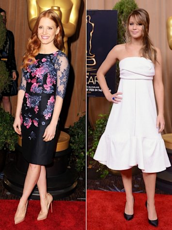 Jessica Chastain/Jennifer Lawrence --
