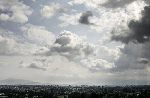 <p>Addis Ababa, seen in 2007. Twenty-four Ethiopians, including a leading opposition figure and a prominent journalist, faced life in prison Wednesday after a court found them guilty on charges of terrorism.</p>