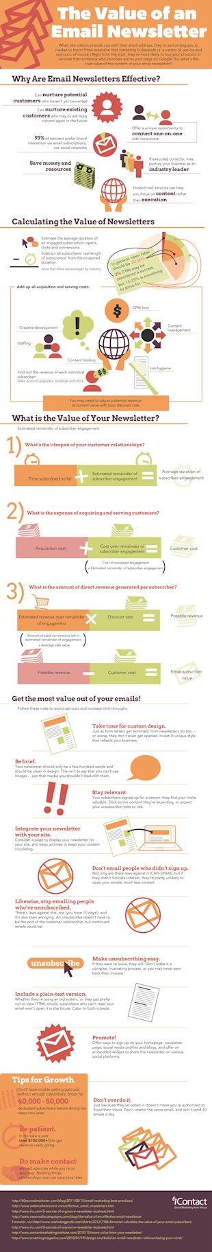 The Value of an Email Newsletter [Infographic] image EmailNewsletter