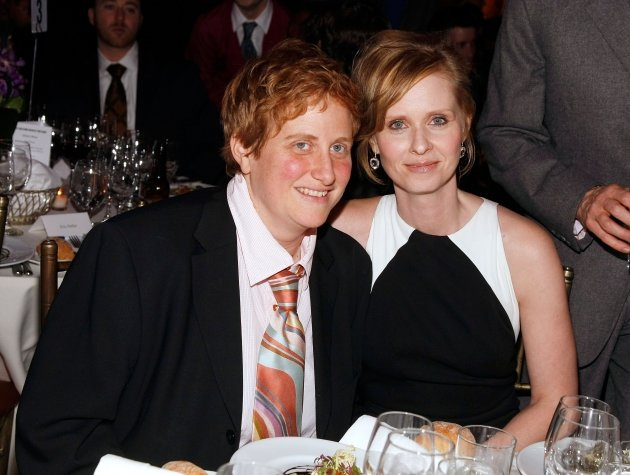 Cynthia Nixon (right) poses with Christine Marinoni at the at the Point Foundation &amp;#39;Point Honors The Arts&amp;#39; Benefit at Capitale in New York City on March 7, 2008  -- Getty Premium