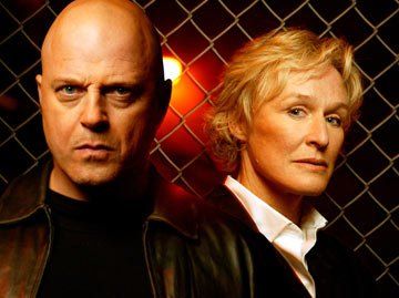 Michael Chiklis and Glenn Close FX's The Shield