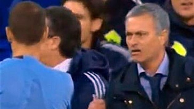 Mourinho was sent off for his protests
