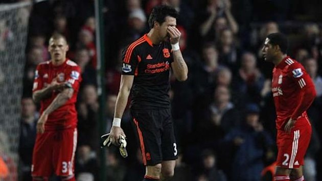 2011-12 Premier League Liverpool Alexander Doni sent off