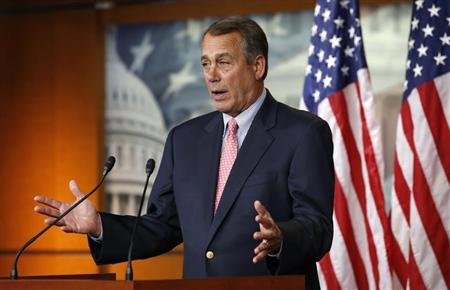 Speaker of the House John Boehner speaks to reporters on Capitol Hill in Washington March 7, 2013. REUTERS/Kevin Lamarque
