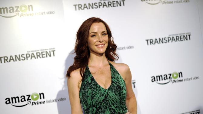 """Wersching poses during Amazon's premiere screening of """"Transparent"""" at the Ace Hotel in downtown Los Angeles"""