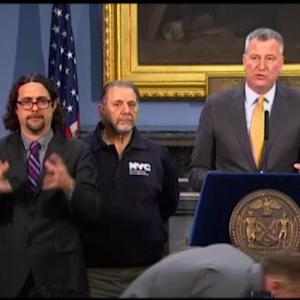 NYC Mayor De Blasio: Storm Moved East, Thank God for That
