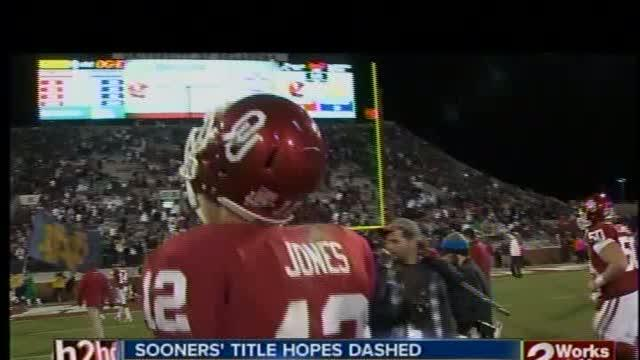 Sooners fall to Irish, 30-13