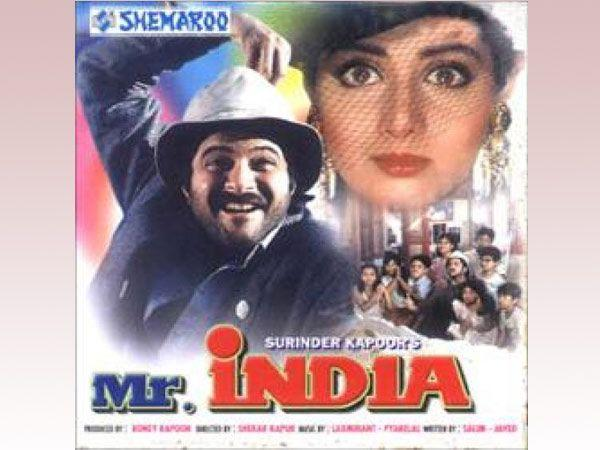 Image courtesy : iDiva.comMr. India: India's first superhero film that introduced the heroic Mr. India and super villain Mogambo is a classic movie starring Anil Kapoor. The story of how orphan childr
