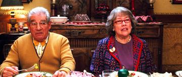 Trevor Peacock and Kathy Bates in Warner Bros. Pictures' Fred Claus