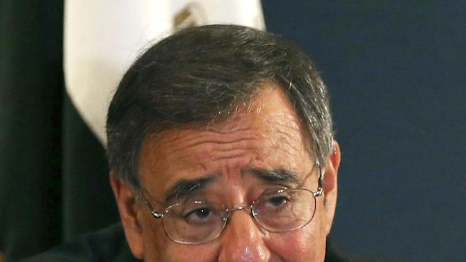 Defense Secretary Leon Panetta speaks during a news conference in Cairo, Egypt,  Tuesday, July 31, 2102,  after a meeting with Egyptian President Mohamed Morsi.  (AP Photo/Mark Wilson, Pool)