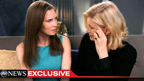Amanda Knox breaks silence in exclusive interview with ABC News' Diane Sawyer