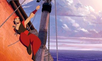Brad Pitt is the voice of Sinbad, the most notorious rogue ever to sail the seas, in DreamWorks' Sinbad: Legend of the Seven Seas