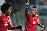 DOPPEL-PREMIERE: David Alaba schnrte sein ersten Doppelpack und hat mit drei Treffern einen neuen persnlichen Saisonrekord aufgestellt.