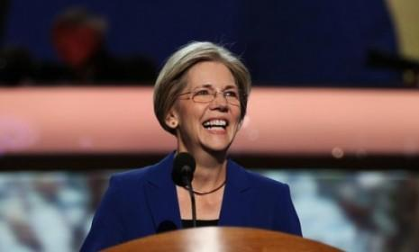 Progressive hero Elizabeth Warren speaks at the Democratic National Convention on Sept 5: She has now unseated GOP Sen. Scott Brown in Massachusetts, delivering a clutch win for Democrats.