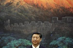 China's President Xi Jinping attends a signing ceremony with his Palestinian counterpart Abbas (not pictured) at the Great Hall of the People in Beijing