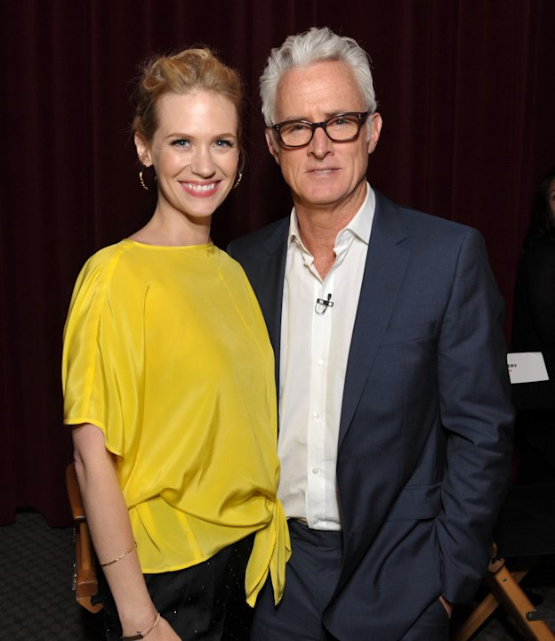 COMMERCIAL IMAGE - In this image provided by AMC, January Jones and John Slattery attend the Mad Men screening at the Academy of Television Arts & Sciences on Sunday June 10, 2012 in the North Hollywo