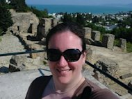 Me in Carthage, Tunisia overlooking the Mediterranean Sea (and getting a sunburn!)