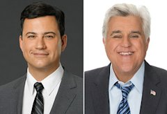 Jimmy Kimmel, Jay Leno | Photo Credits: ABC, NBC