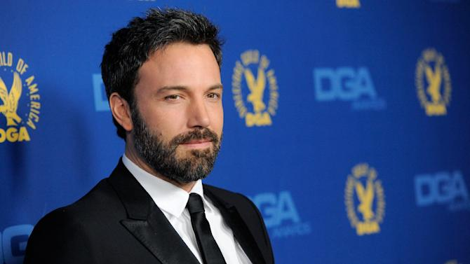 Ben Affleck arrives at the 65th Annual Directors Guild of America Awards at the Ray Dolby Ballroom on Saturday, Feb. 2, 2013, in Los Angeles. (Photo by Chris Pizzello/Invision/AP)