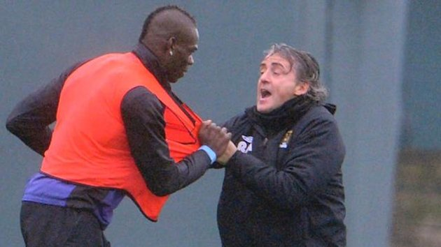 Mario Balotelli, Roberto Mancini (Paul Cousans, Zenpix)
