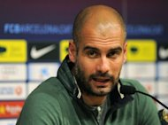 Barcelona coach Pep Guardiola (pictured) is leaving the club, ending a four-year reign over one of the greatest eras in club football, the club president announced