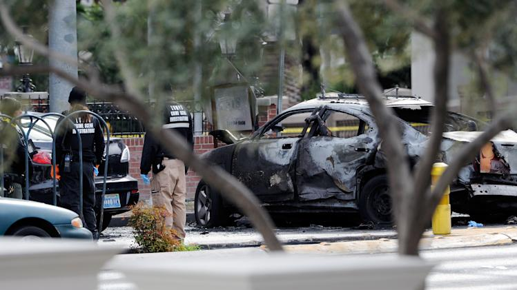 Shoot Out Between Two Cars On Vegas Strip Ends In Fiery Crash, And Three Dead