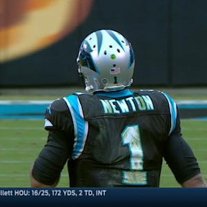 Carolina Panthers quarterback Cam Newton runs for 15 yards