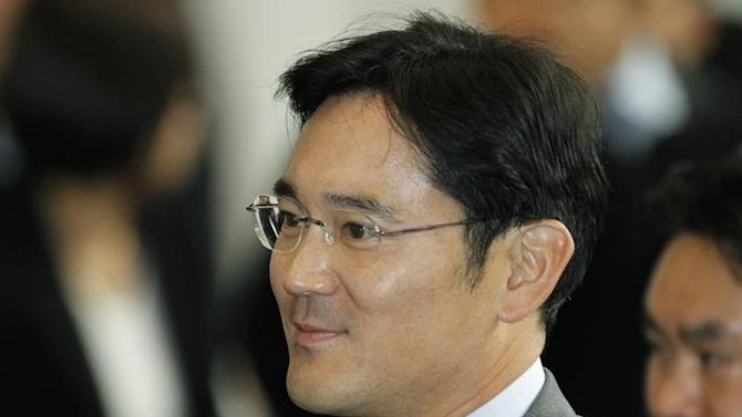 Jay Y. Lee, son of Samsung Electronics chairman Lee Kun-hee and the company's chief operating officer arrives at the company's headquarters in Seoul