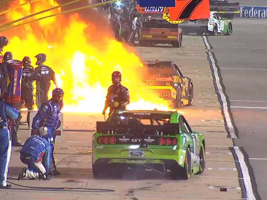 Motorsports Monday: NASCAR is investigating a massive pit lane fire that sent three people to the hospital