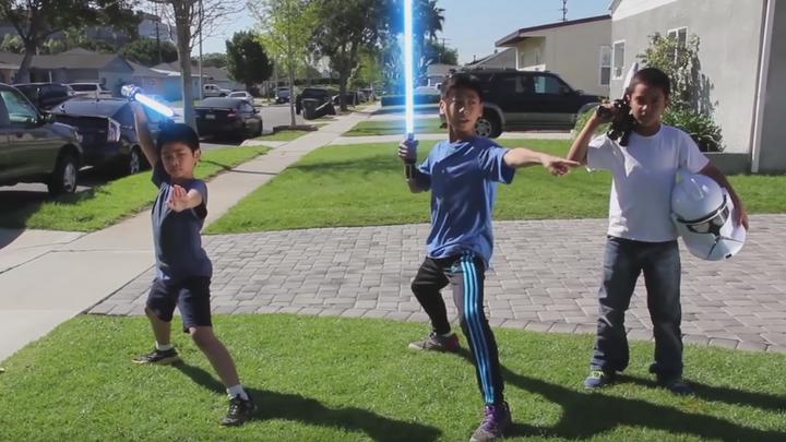 An accurate, adorable and kinda badass look at how kids play Star Wars