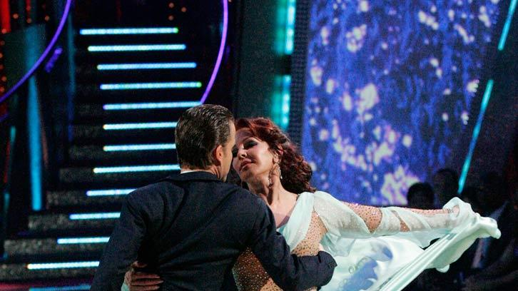 Louis Van Amstel and Priscilla Presley perform a dance on the sixth season of Dancing with the Stars.